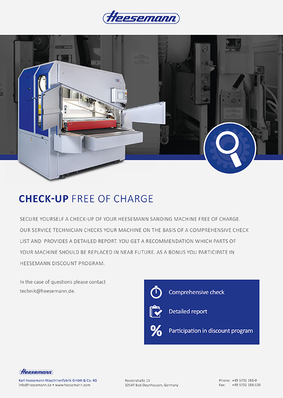 Check-up free of charge